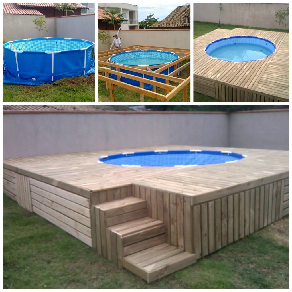 Pallet swimming pool deck andrea 39 s notebook - How to build a swimming pool out of wood ...