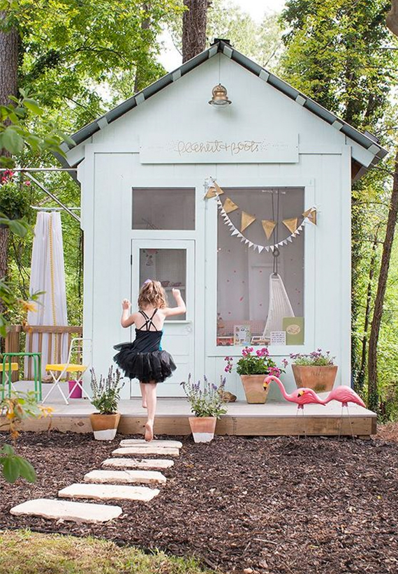 Delightful Girls Outdoor Playhouse Home Design Ideas