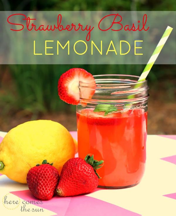 Strawberry Basil Lemonade - Summer Drink Recipes