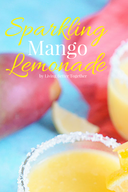 Sparkling Mango Lemonade Recipe - summer drink recipes
