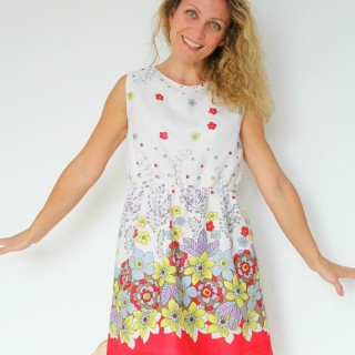 Women's Gathered waist summer dress