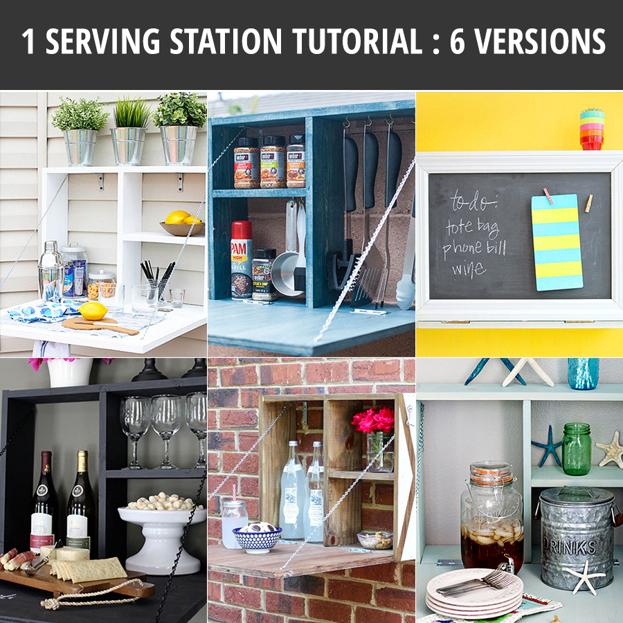 DIY Wall Mounted Serving Station