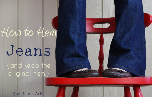 how to hem your jeans keeping the original hem