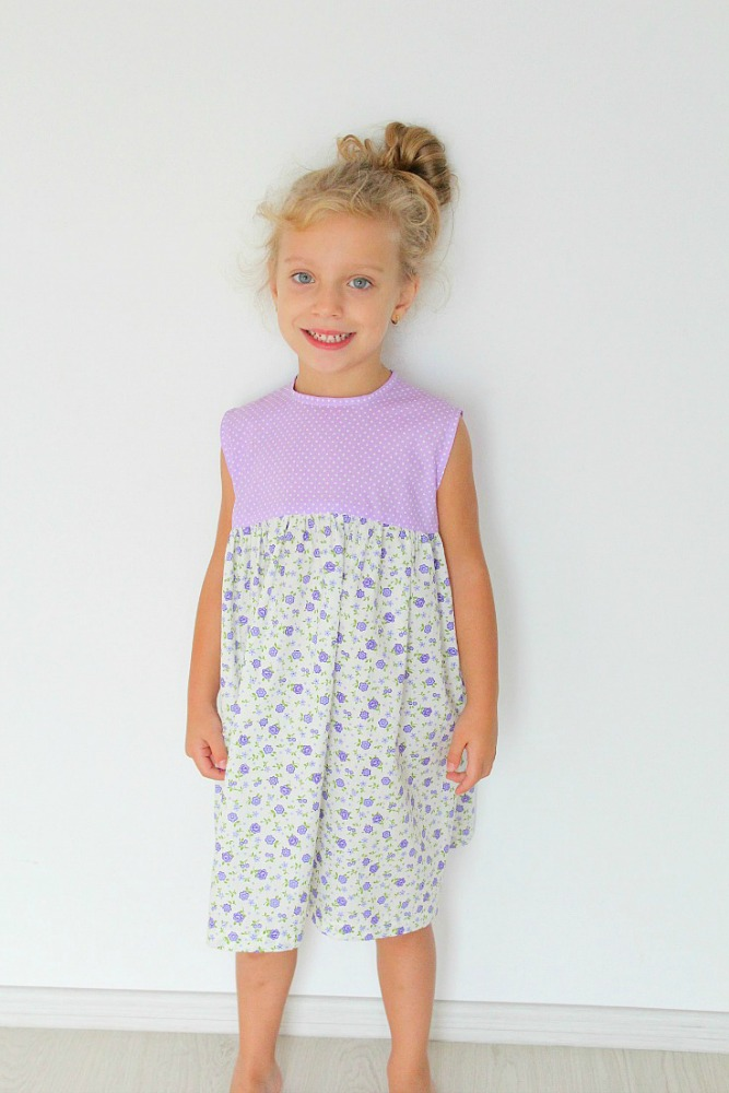 FREE girls dress sewing pattern