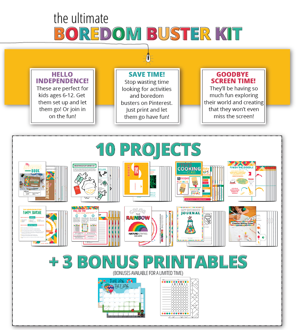Boredom Busters!! Download them and save time!