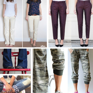 refashion + update pants -- tutorials