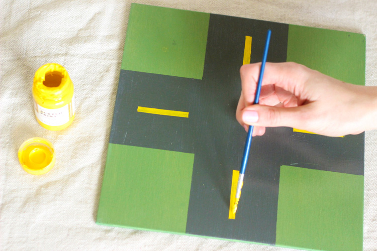 DIY Wooden Car Play Mat