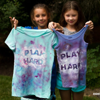 Play Hard Splatter Paint T-Shirt Tutorial