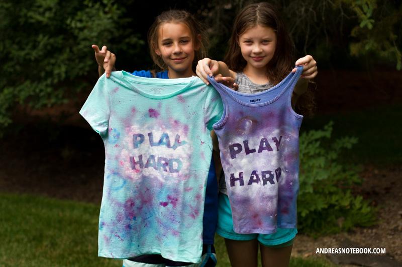 Splatter paint shirt tutorial
