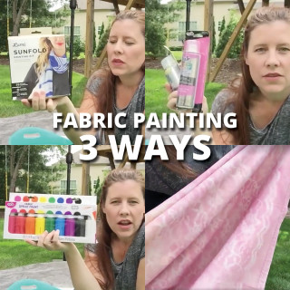 Fabric painting and dyeing three ways! andreasnotebook.com