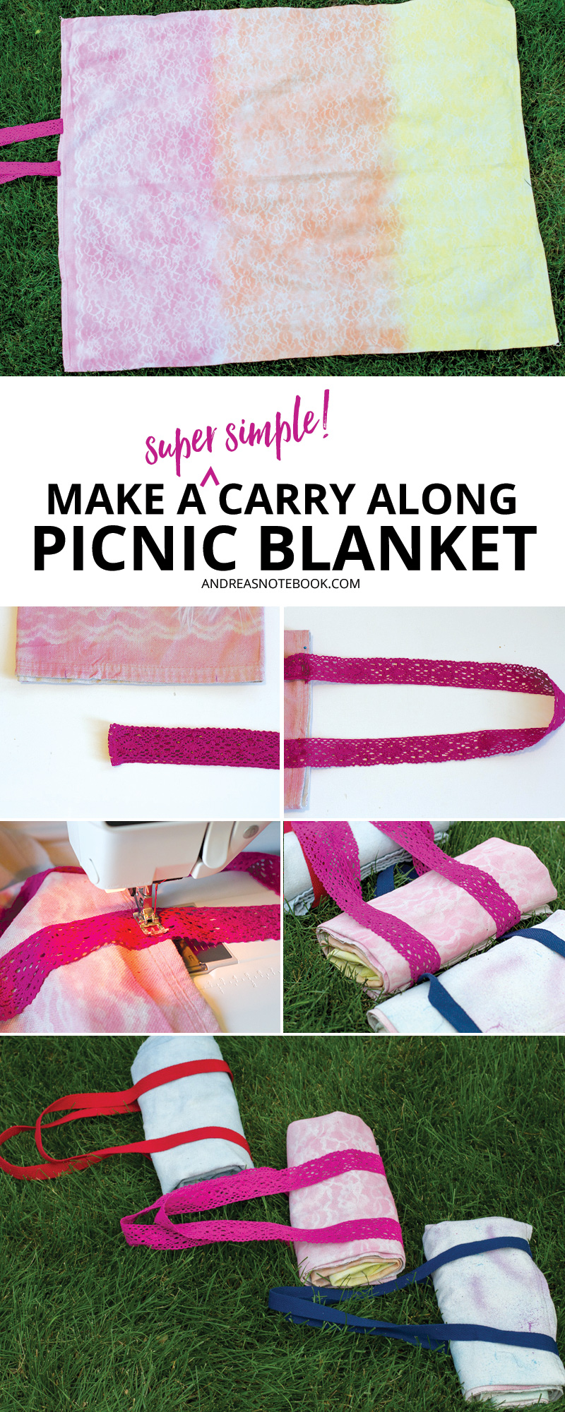 Learn how to make a carry along picnic blanket