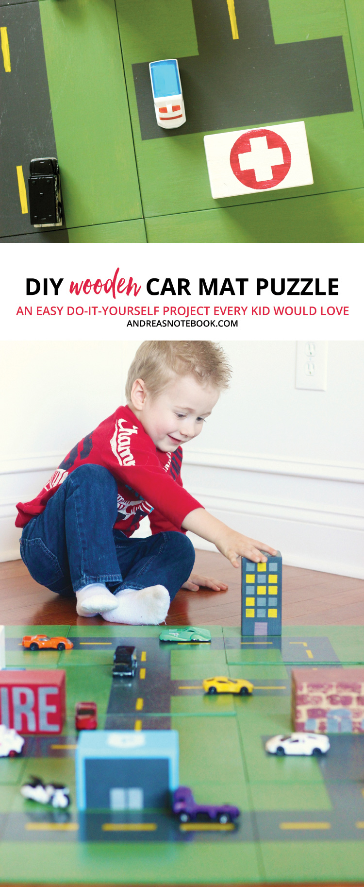 do-it-yourself wooden car play mat tutorial