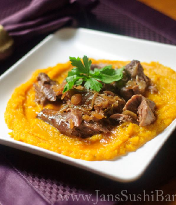 Instant Pot braised lamb with butternut squash recipe