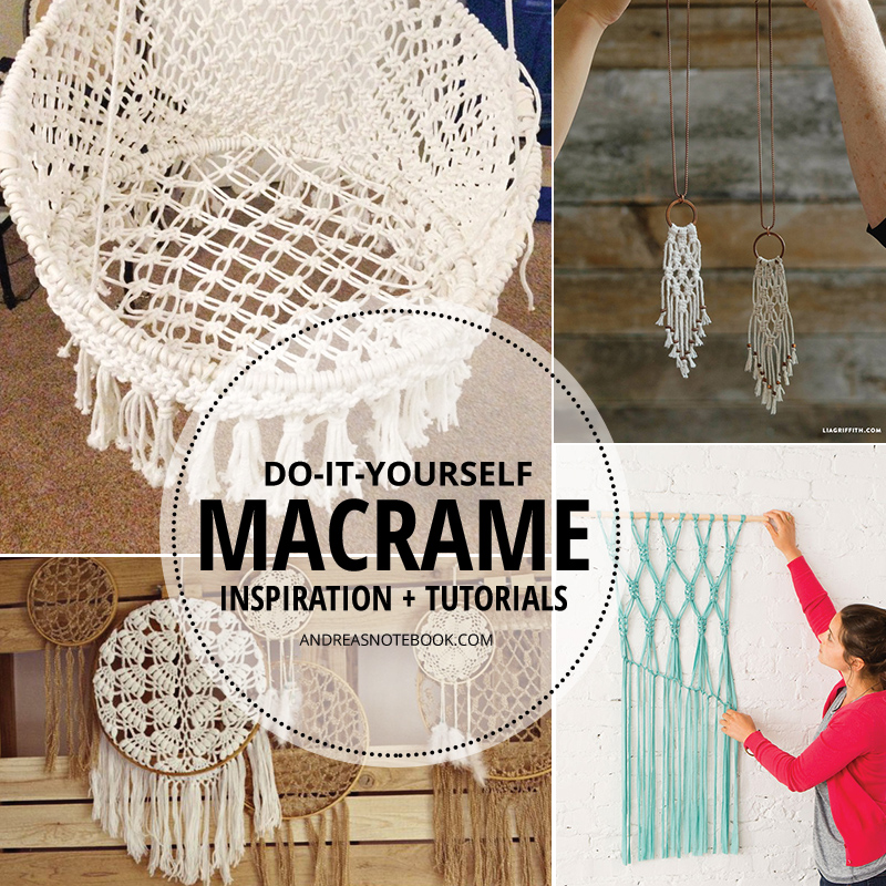 Awesome macrame tutorials and inspiration