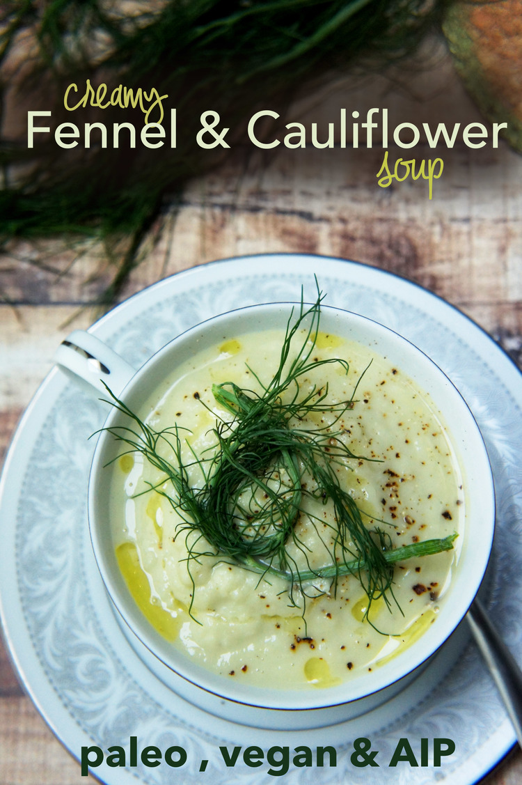 creamy fennel soup in an Instant Pot