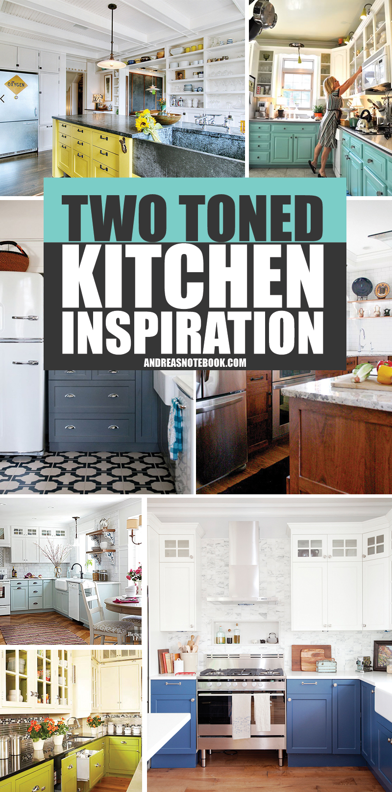 15 Two Toned Kitchens That Are To For