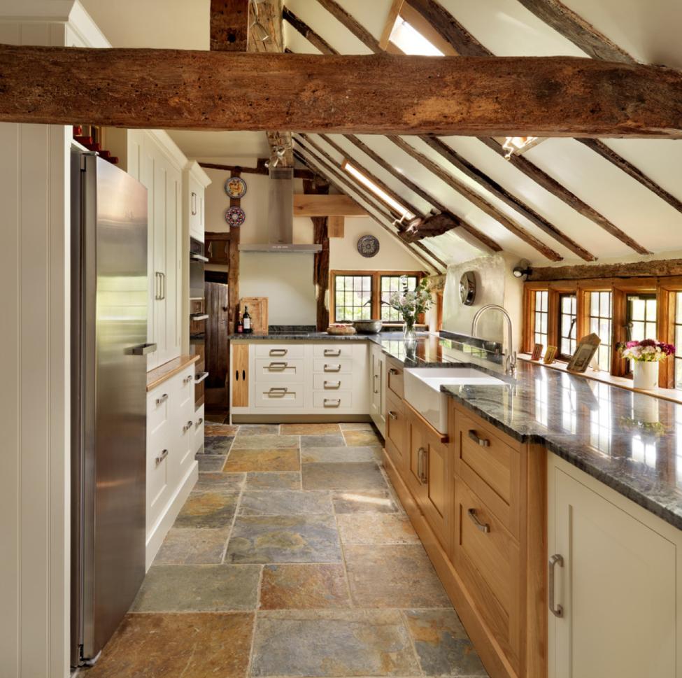 Stylish two toned kitchen cabinets