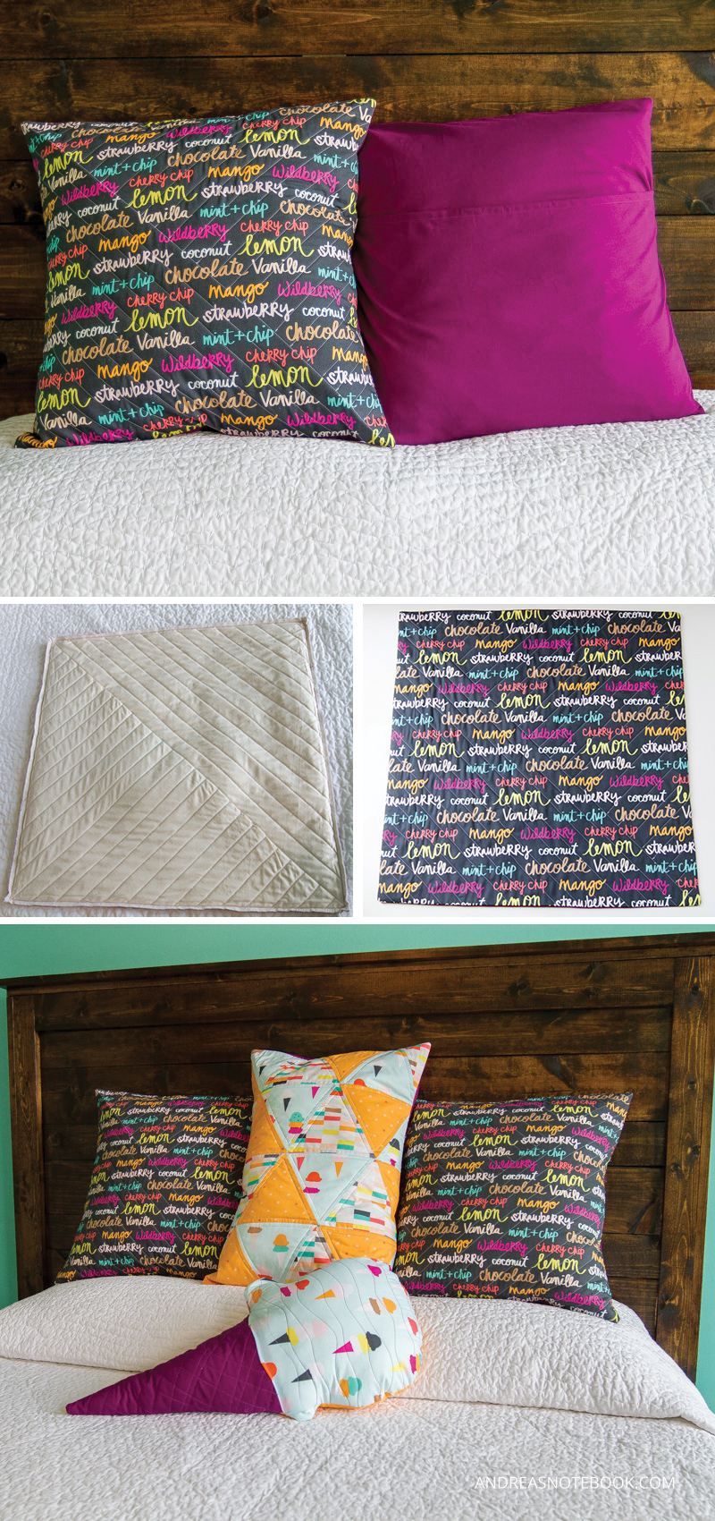DIY Quilted pillows - andreasnotebook.com