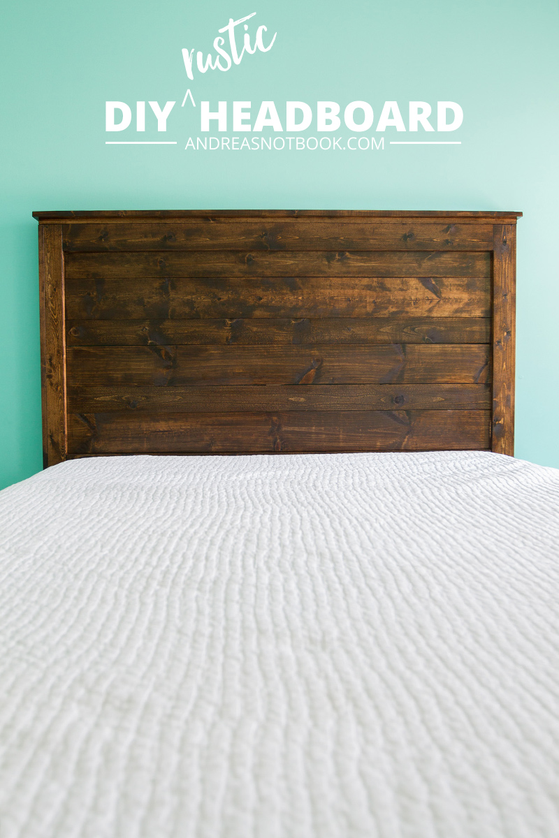 Make Your Own Diy Rustic Headboard Andreasnotebook