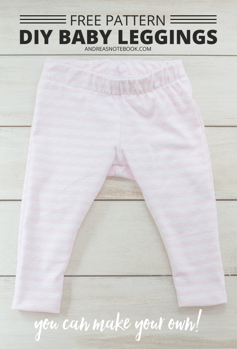 DIY baby leggings pattern - free pattern download - andreasnotebook.com