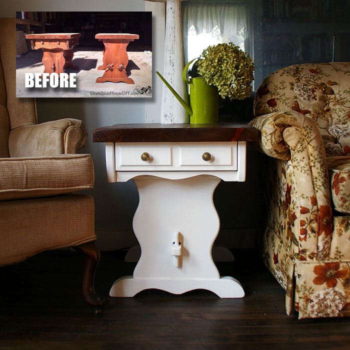 DIY end table makeover tutorial