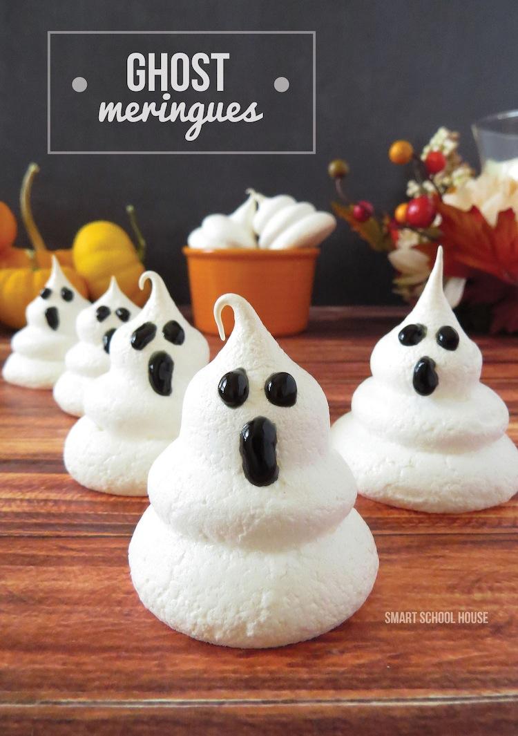 easy ghost meringues