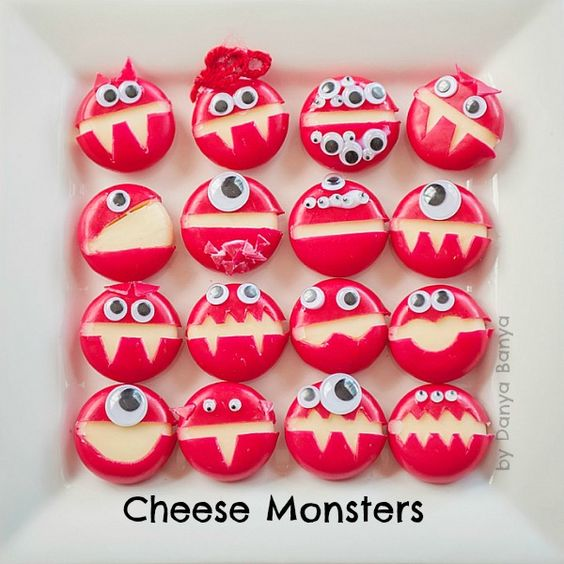 Monster Cheese  - healthy halloween treats