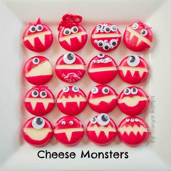 Monster Cheese  - healthy halloween treats