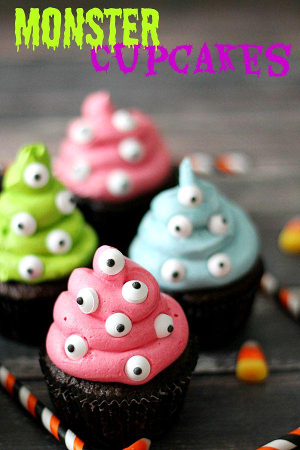 Monster Cupcakes - Halloween Treats