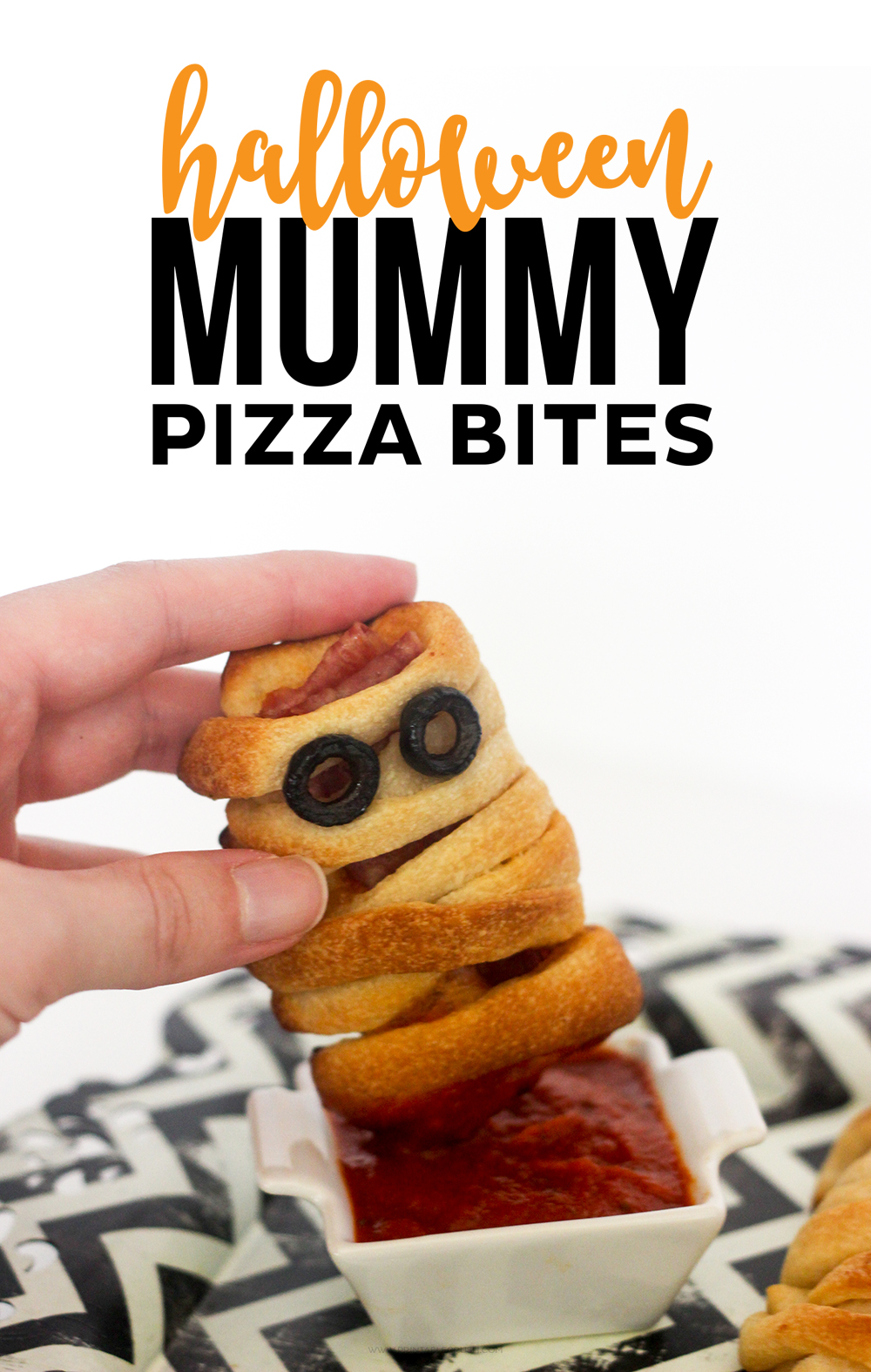 Halloween Pizza Mummy Bites