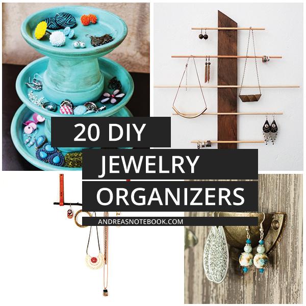 20 DIY Jewelry Organizers