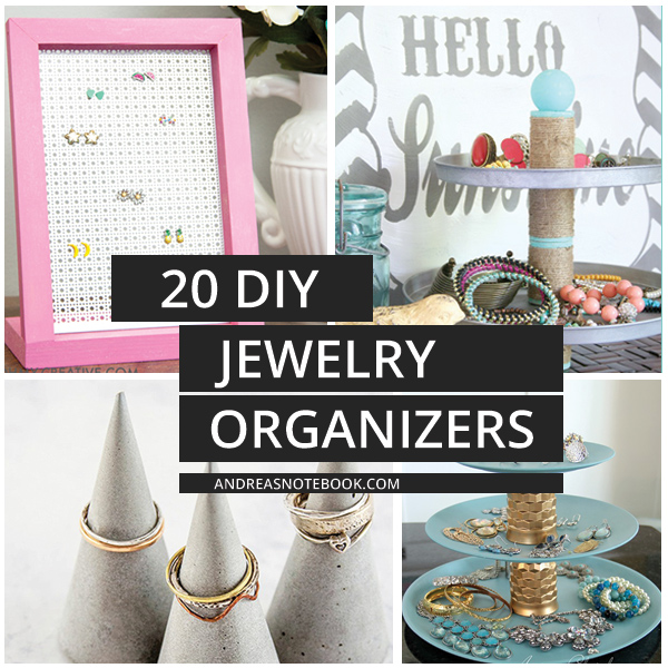 20 DIY Jewelry Organizers That Are Fun To Make Andreas Notebook
