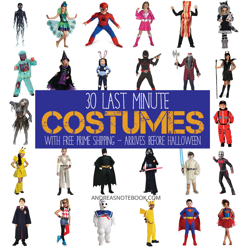30 LAST MINUTE HALLOWEEN COSTUMES