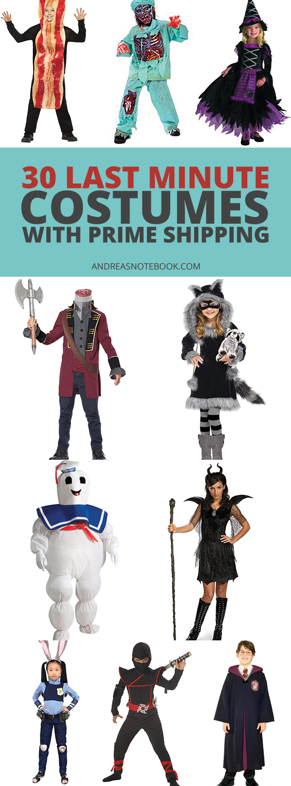 30 Last Minute Costumes to buy - FREE SHIPPING