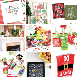 Printable Christmas Bunting, Cards, Tags, Parties and More!