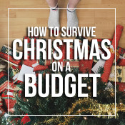 how to survive Christmas on a budget