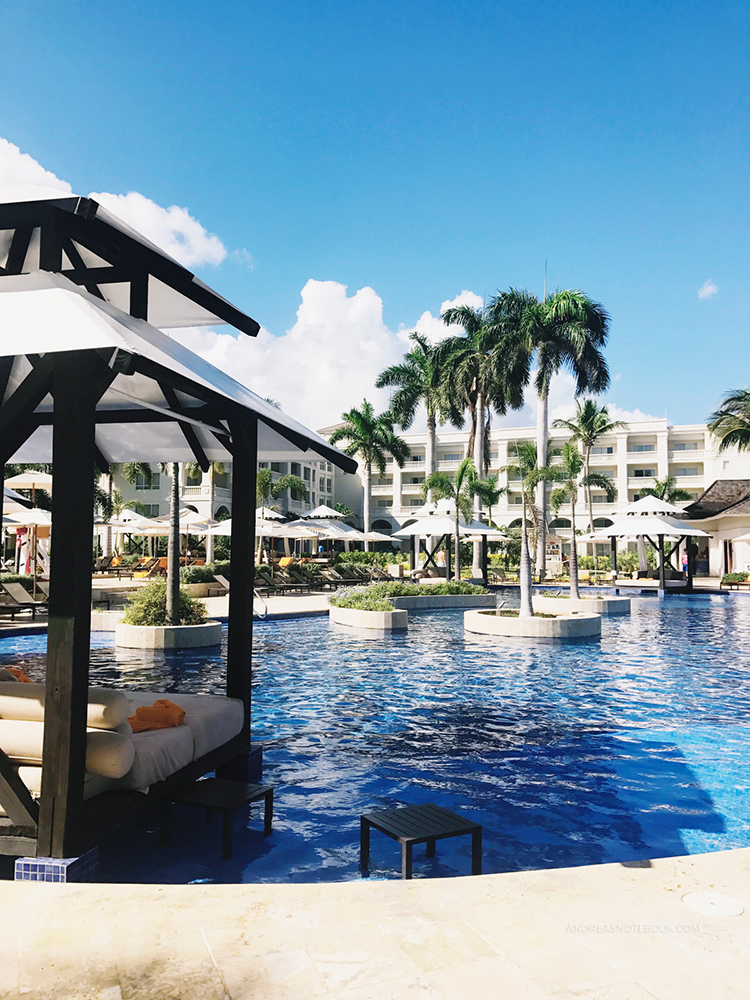 Spend plenty of time poolside at your all-inclusive resort. This pool at Hyatt Ziva was awesome.