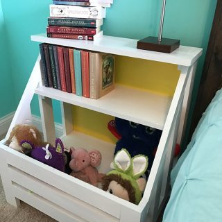 DIY – How To Build A Bookshelf Nightstand