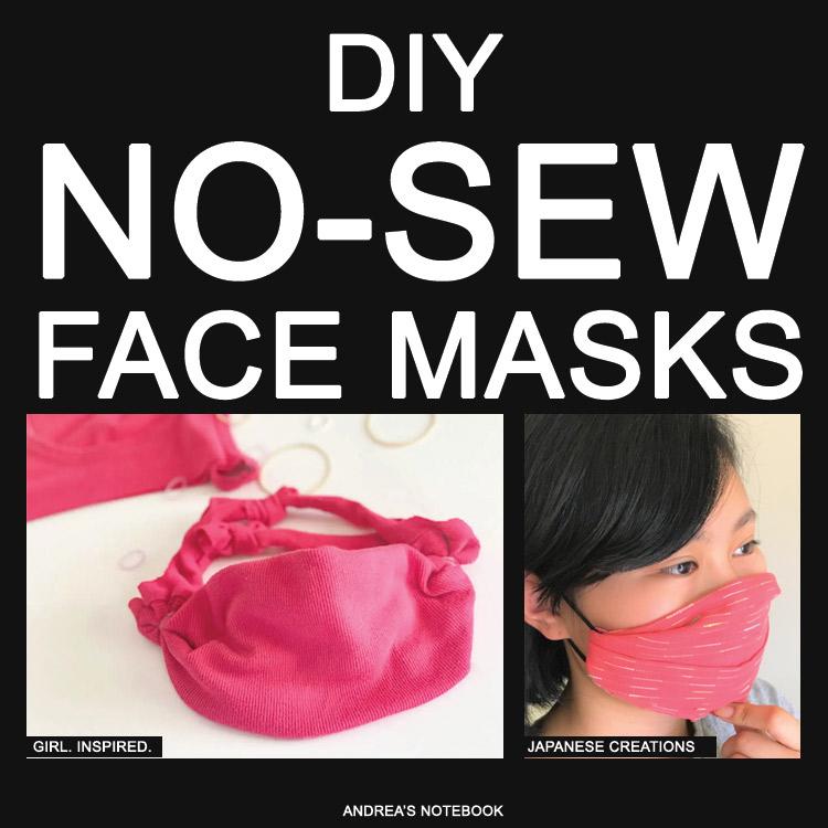 diy no sew face mask tutorials