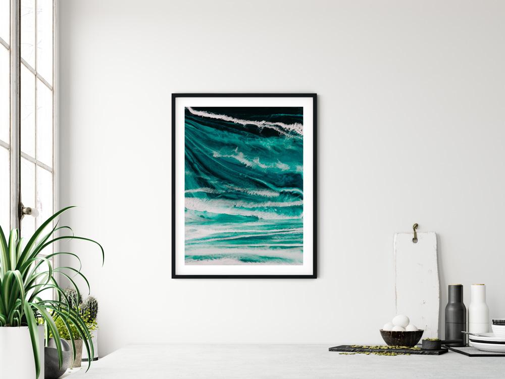 wall art frame ocean waves photo