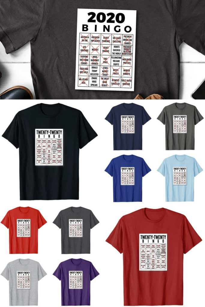 funny 2020 funny bingo card t-shirt