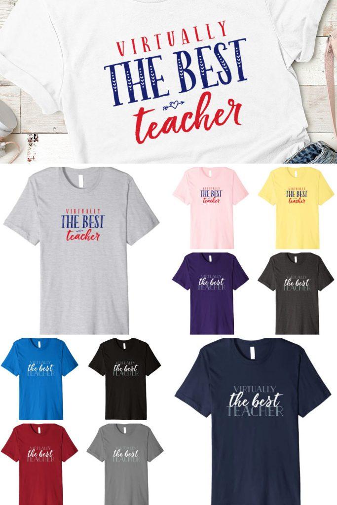 Virtually the best teacher t-shirt
