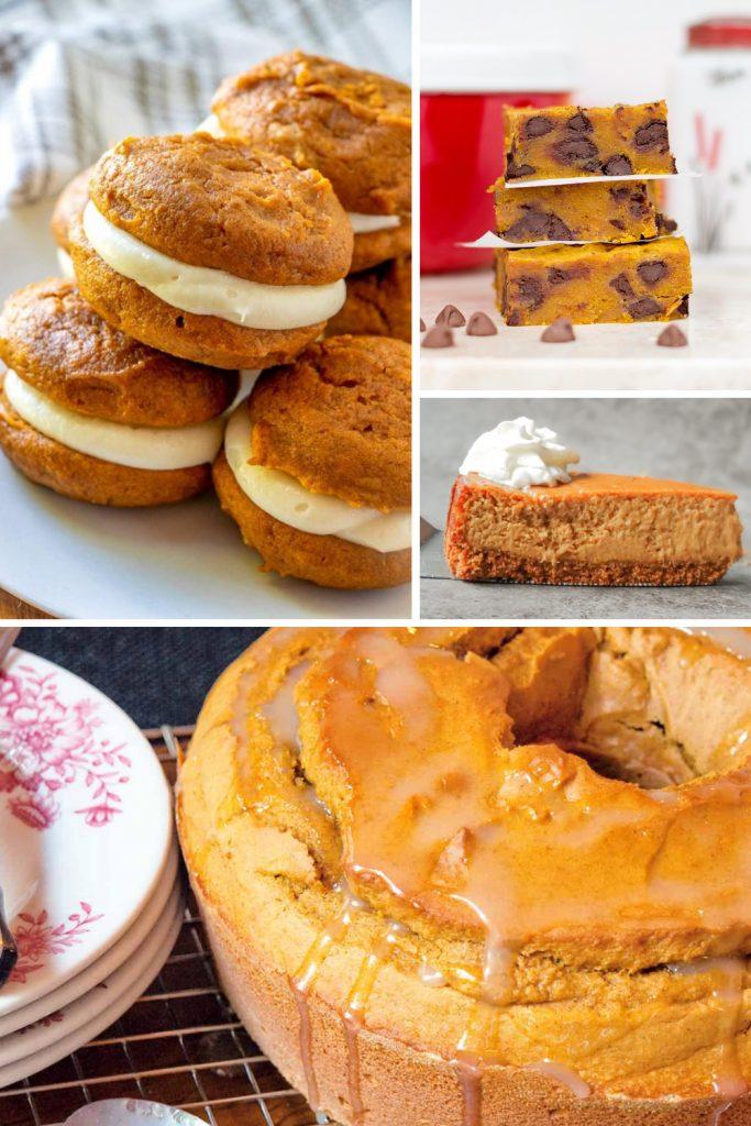 pumpkin whoopie pie bundt cake pie cookies