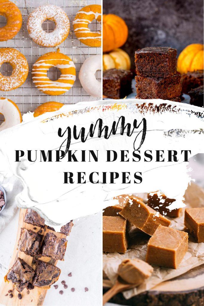 16 Pumpkin Dessert Recipes donut fudge brownies cookies