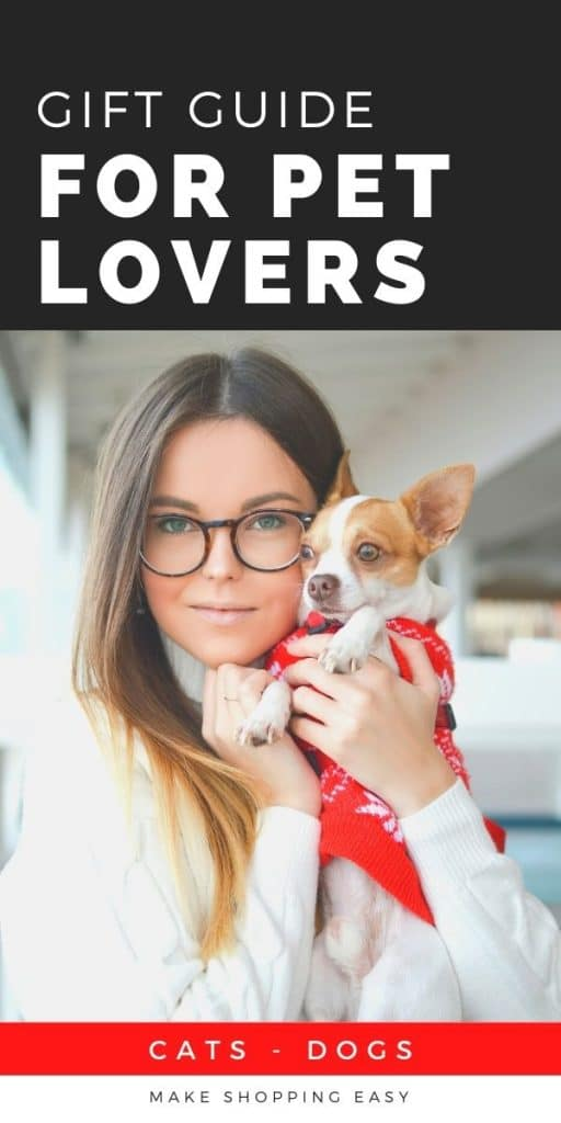 woman with glasses brown hair dog in clothes
