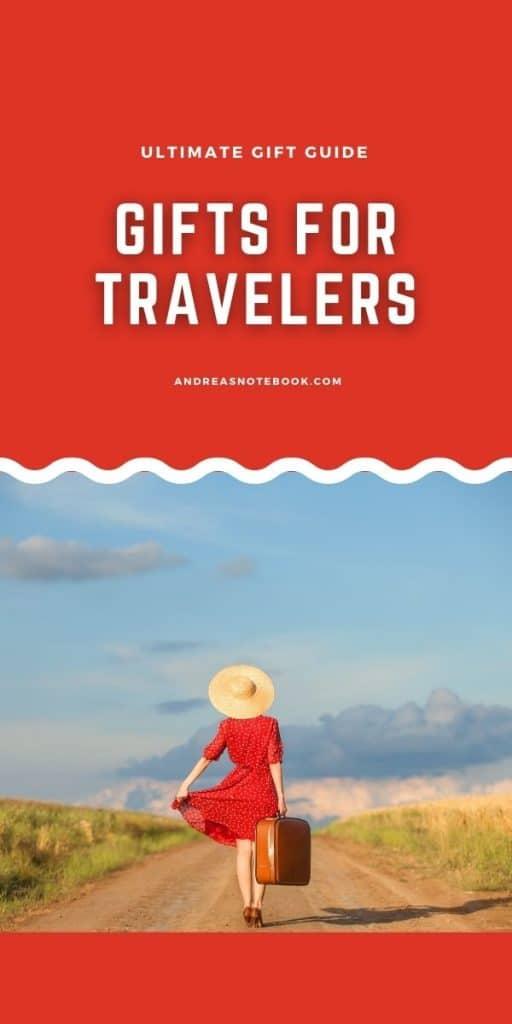 red woman travel walking