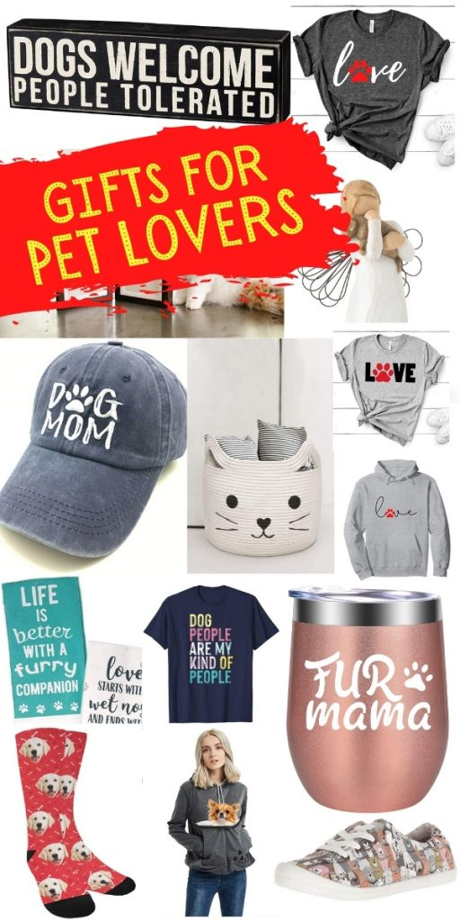 lots of pictures of gifts for pet lovers