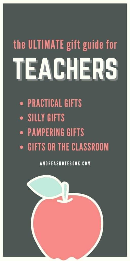 teacher gifts poster