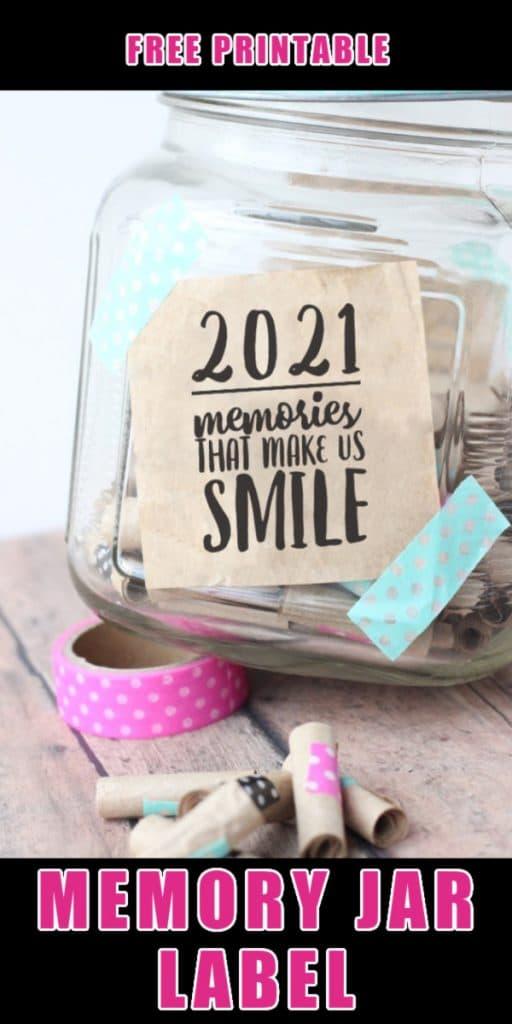 ball jar memories make smile washi tape