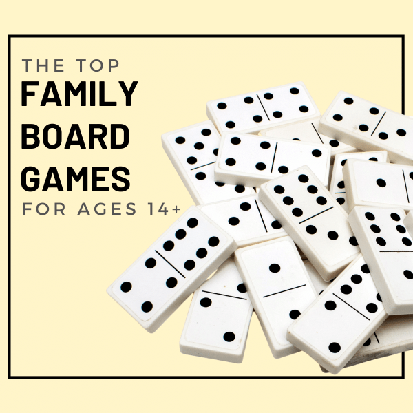 The ultimate list of top family board games and card games for ages 14 and up. Perfect for groups and family game night for teens and adults.